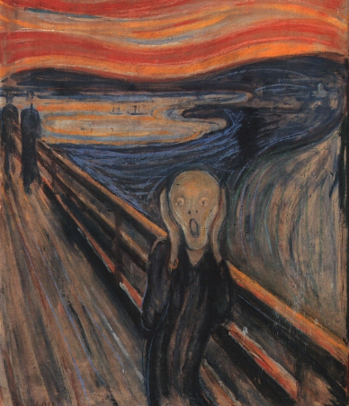 Evard Munch -- The Scream -- 1893, National Gallery, Oslo